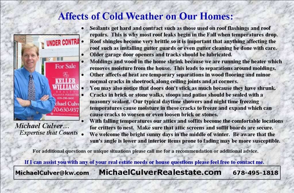 Affects of Cold Weather on Homes